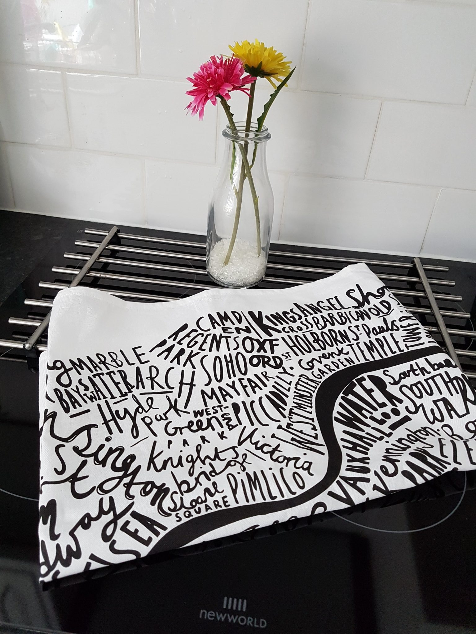 Image of the London Print Tea Towel